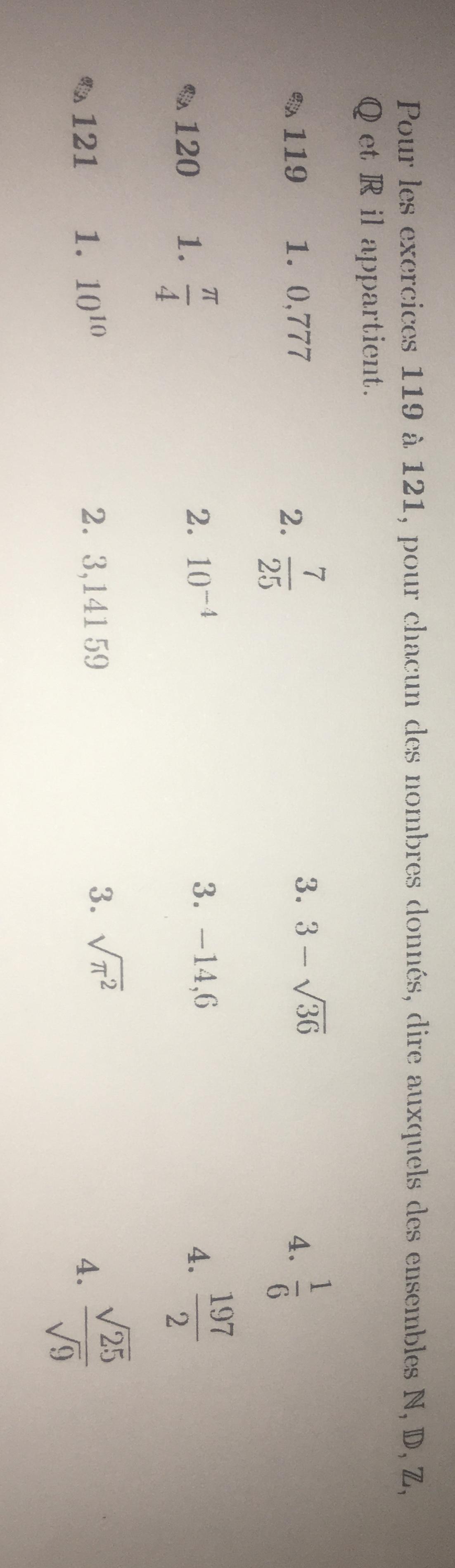 Bonjour Je Suis En Seconde Et C Est Un Exercice De Maths Consigne Pour Les Exercices 119 A 121 Nosdevoirs Fr
