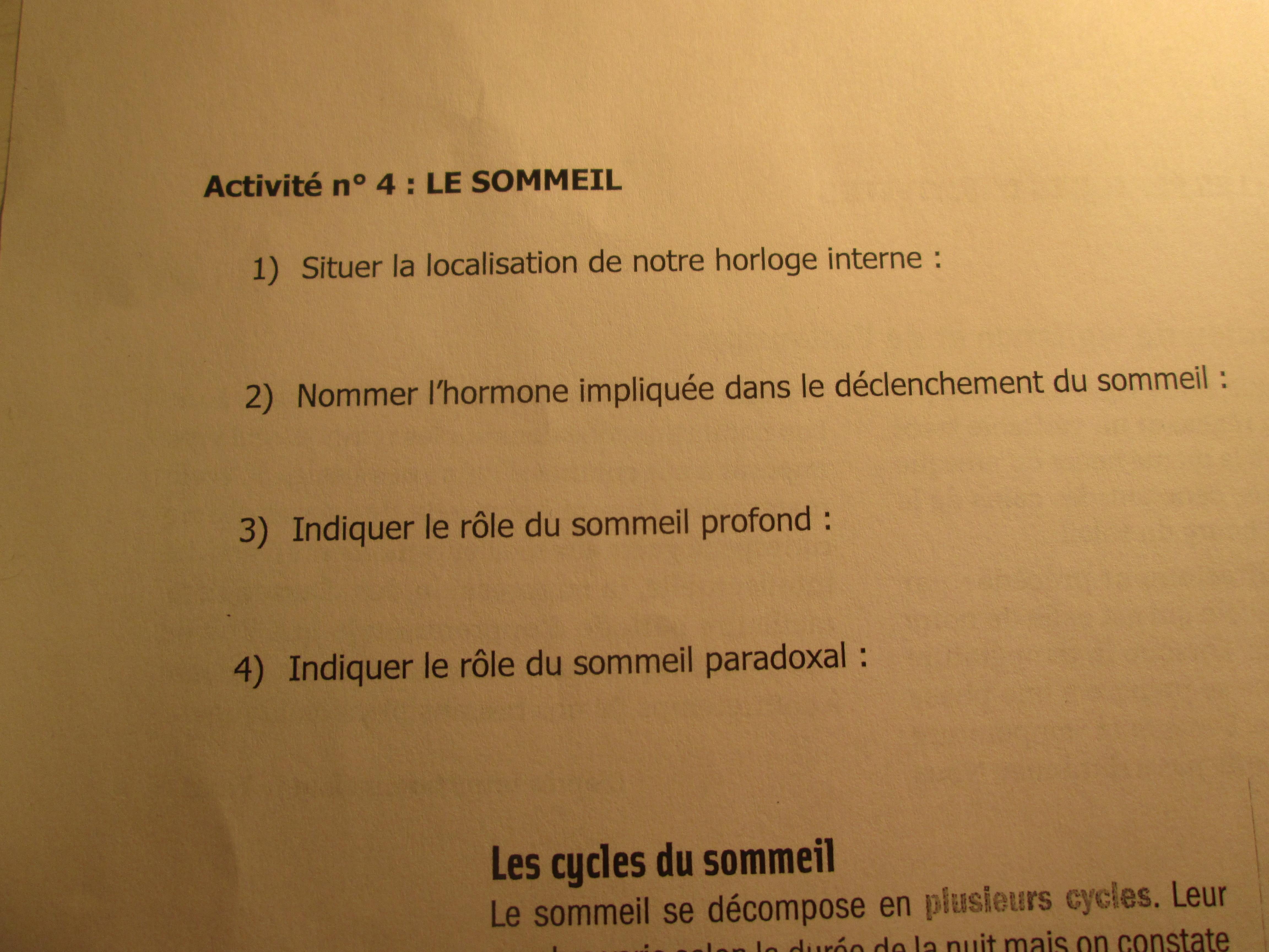 Devoir de svt cned n°2 | digiSchool devoirs