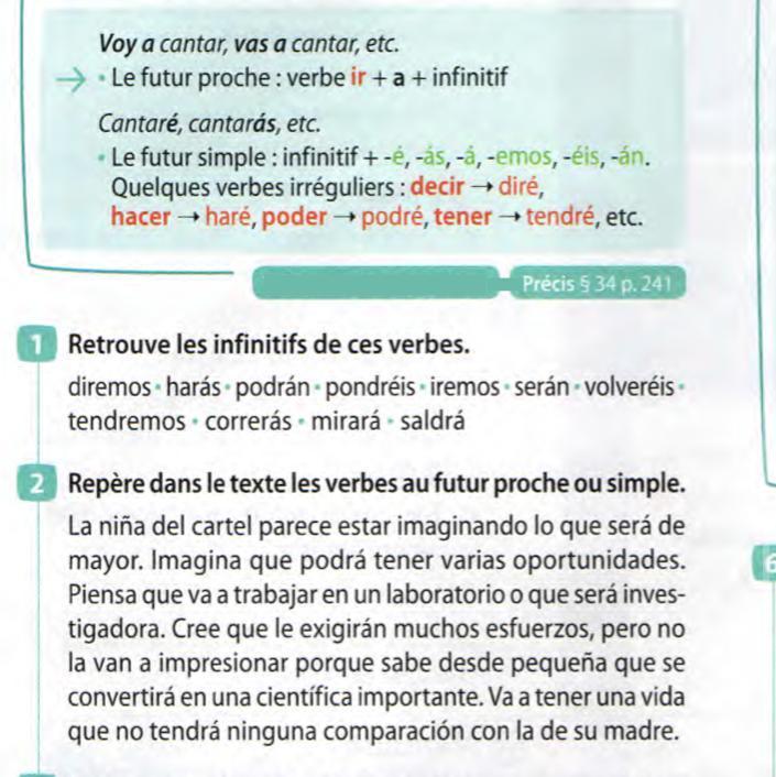 Bonjour J Espere Que Vous Allez Tous Bien J Ai Besoin D Aide Pour Ces Deux Exercices En Espagnol Nosdevoirs Fr