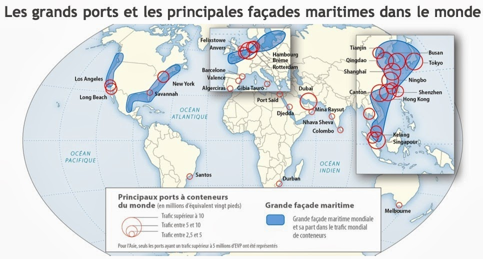 Quelles fa ade maritimes concentre le plus grand nombre de grands ports - Les plus grand port du monde ...