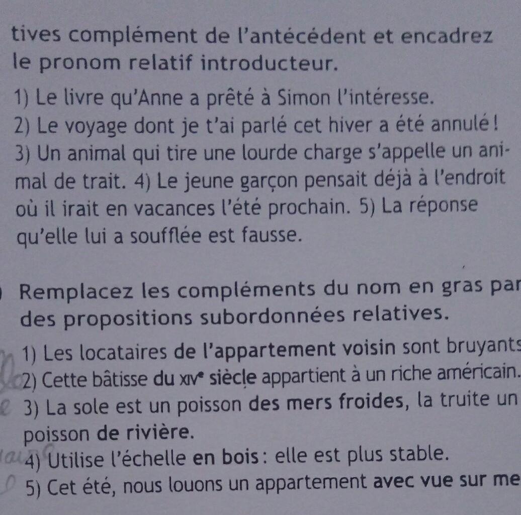 Bonjour J Aimerais Avoir La Correction De Ces Feux Exercices Svp Merci Consigne Du N 4 Apres Nosdevoirs Fr