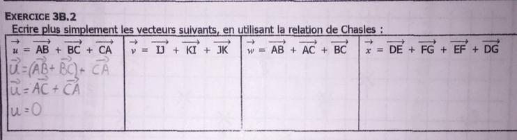 Bonjour J Aurais Besoin D Explications Pour La Relations De Chasles Si Possible Merci D Avance Nosdevoirs Fr