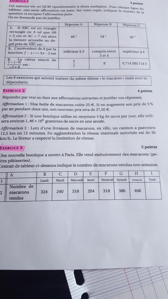 Bonjour Je Revise Pour Le Brevet De Math 3e Il Y A Un Exercice Que Je Ne Comprend Pas Meme Avec Nosdevoirs Fr