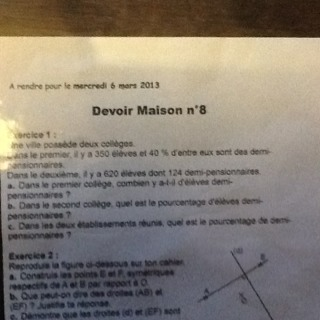 dm de mathematique 5eme