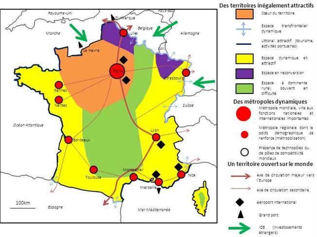 Les espaces productifs industriels en France