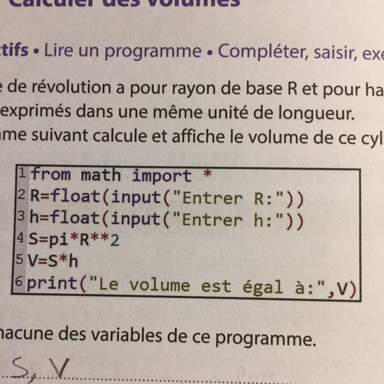 Comment Faire Ce Programme Sur Une Calculatrice J Ai Une Calculatrice Ti Et C Est Avec Python Nosdevoirs Fr
