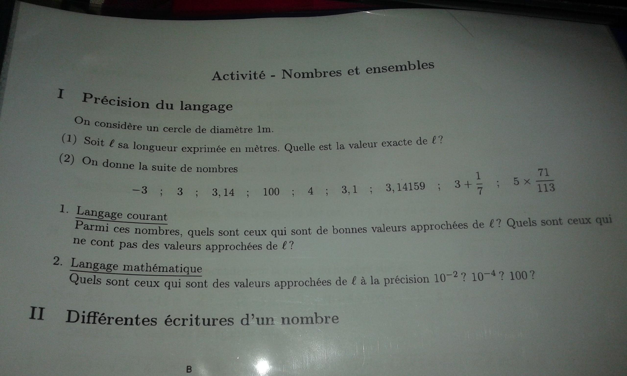 Bonjour J Ai 5 Exercices A Faire Toujours En Maths Mais Il Y A Un Exercice De Revision Niveau Nosdevoirs Fr
