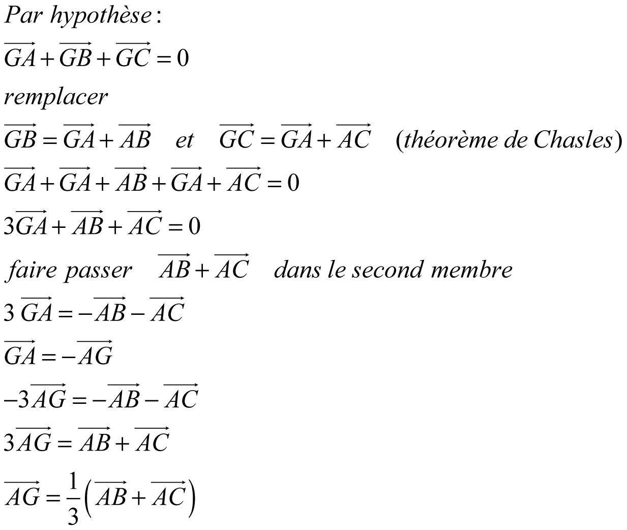 Bonsoir, Je bloque pas mal sur un exercice de mathématiques sur les vecteurs, voici l'énoncé ...