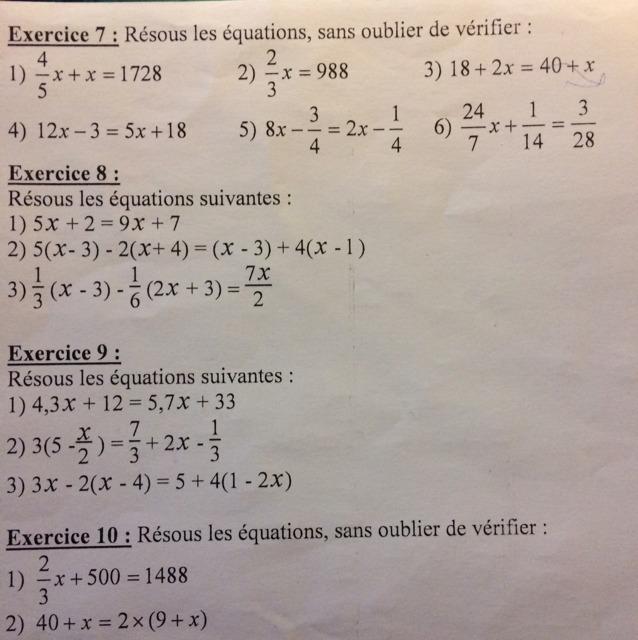 Bnjour c'est un devoir sur les inéquations; 2nde Mathématiques