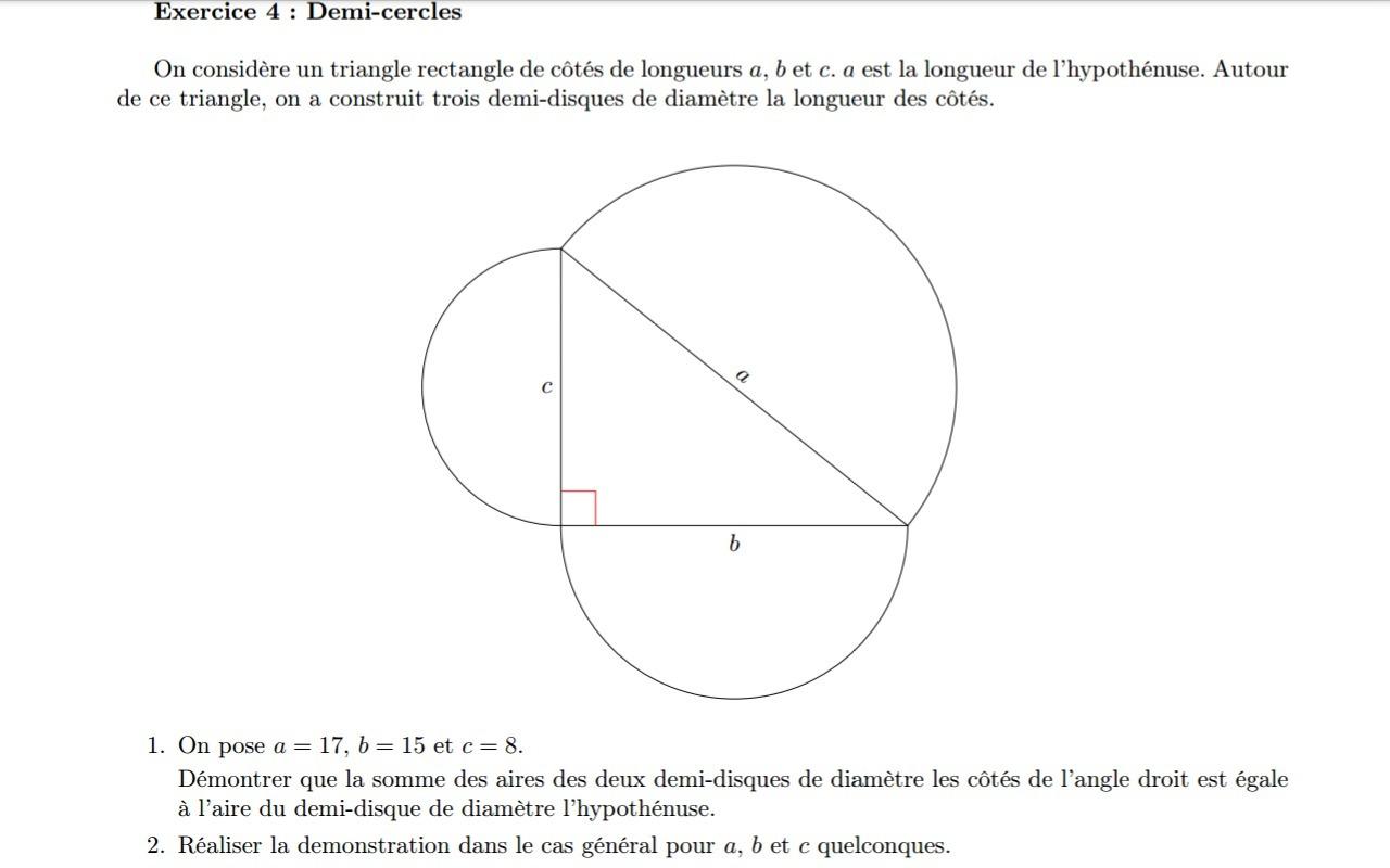 DM de mathématiques 4eme ( Révision et Urgent ) [1 réponse ...