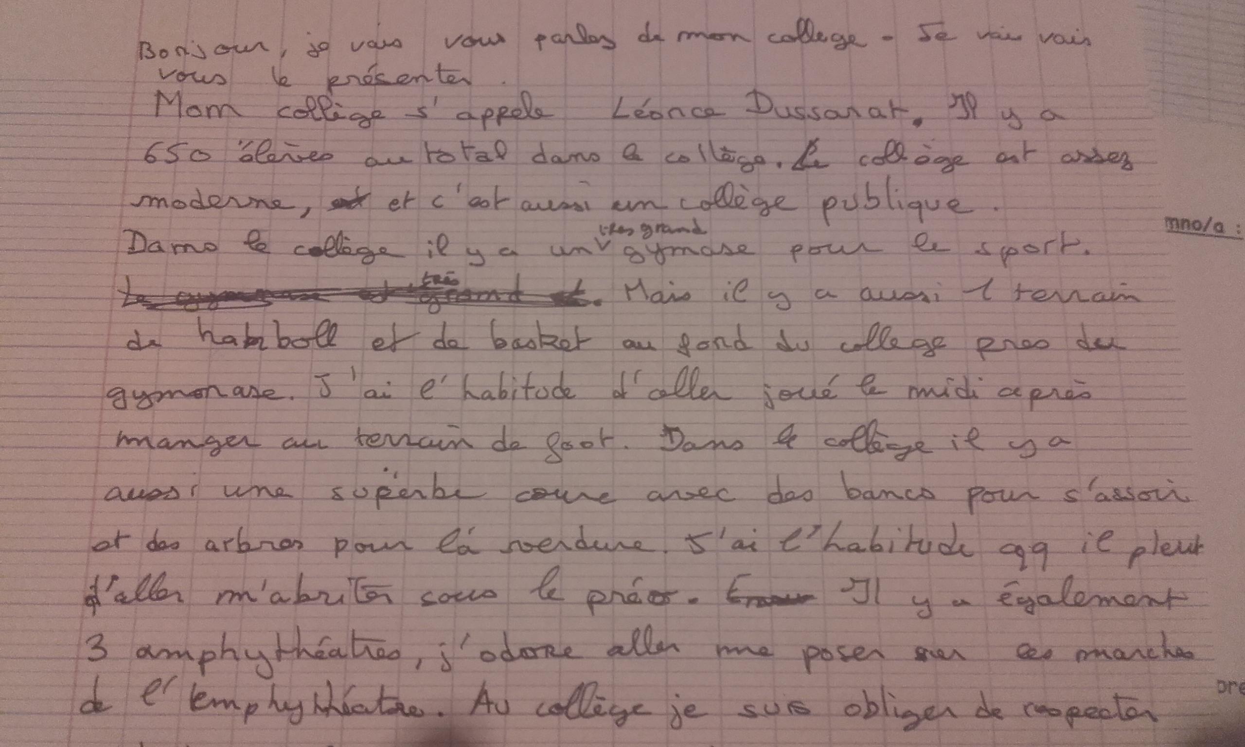 devoir d espagnol 3eme