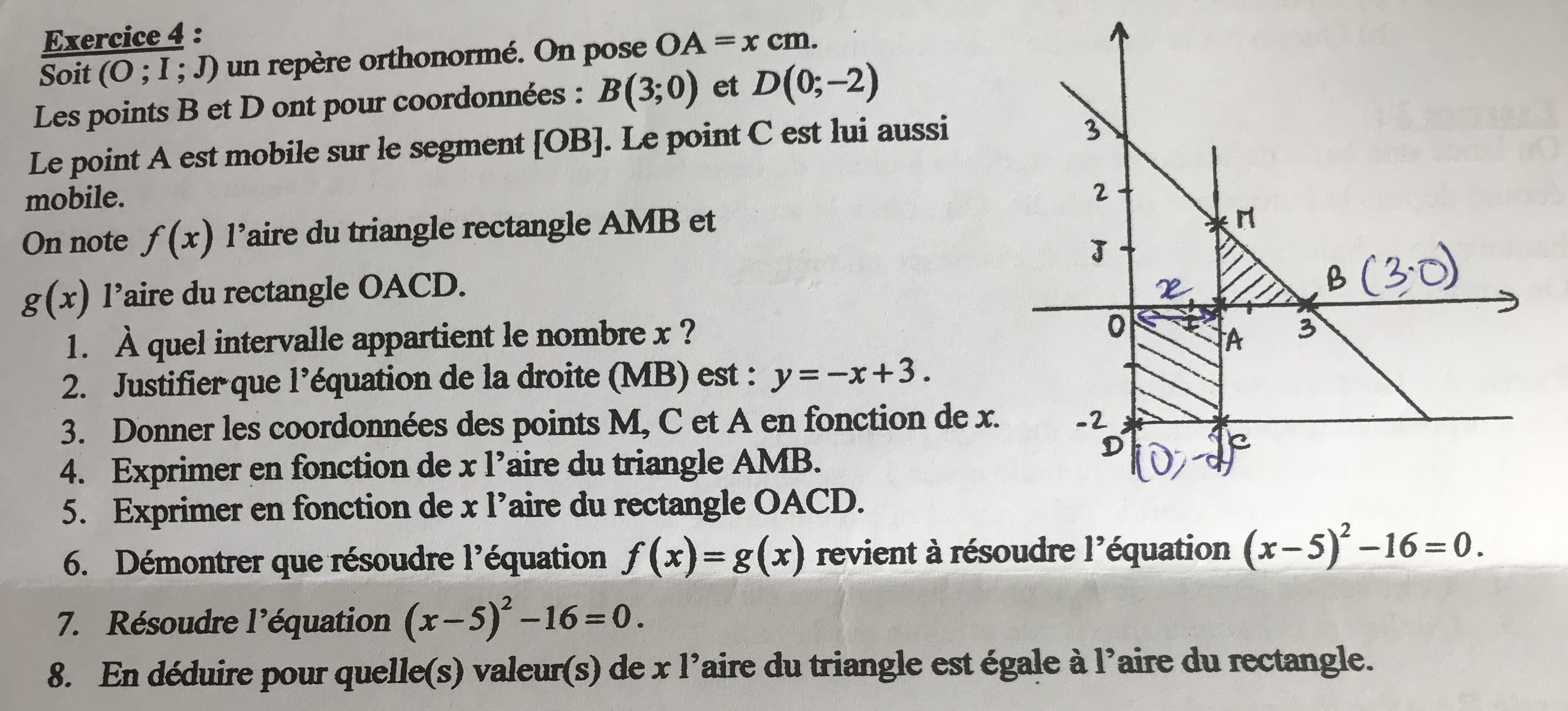 Bonjour Pouvez Vous M Aider Pour Cet Exercice De Maths Sur Les Polynomes Du Second Degre Je Suis Nosdevoirs Fr