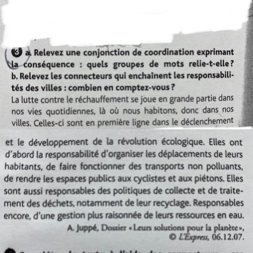 Bonjour J Ai Un Exercice De Francais Niveau 3eme Mais Je N Ai Pas Compris Aidez Moi Svp Nosdevoirs Fr