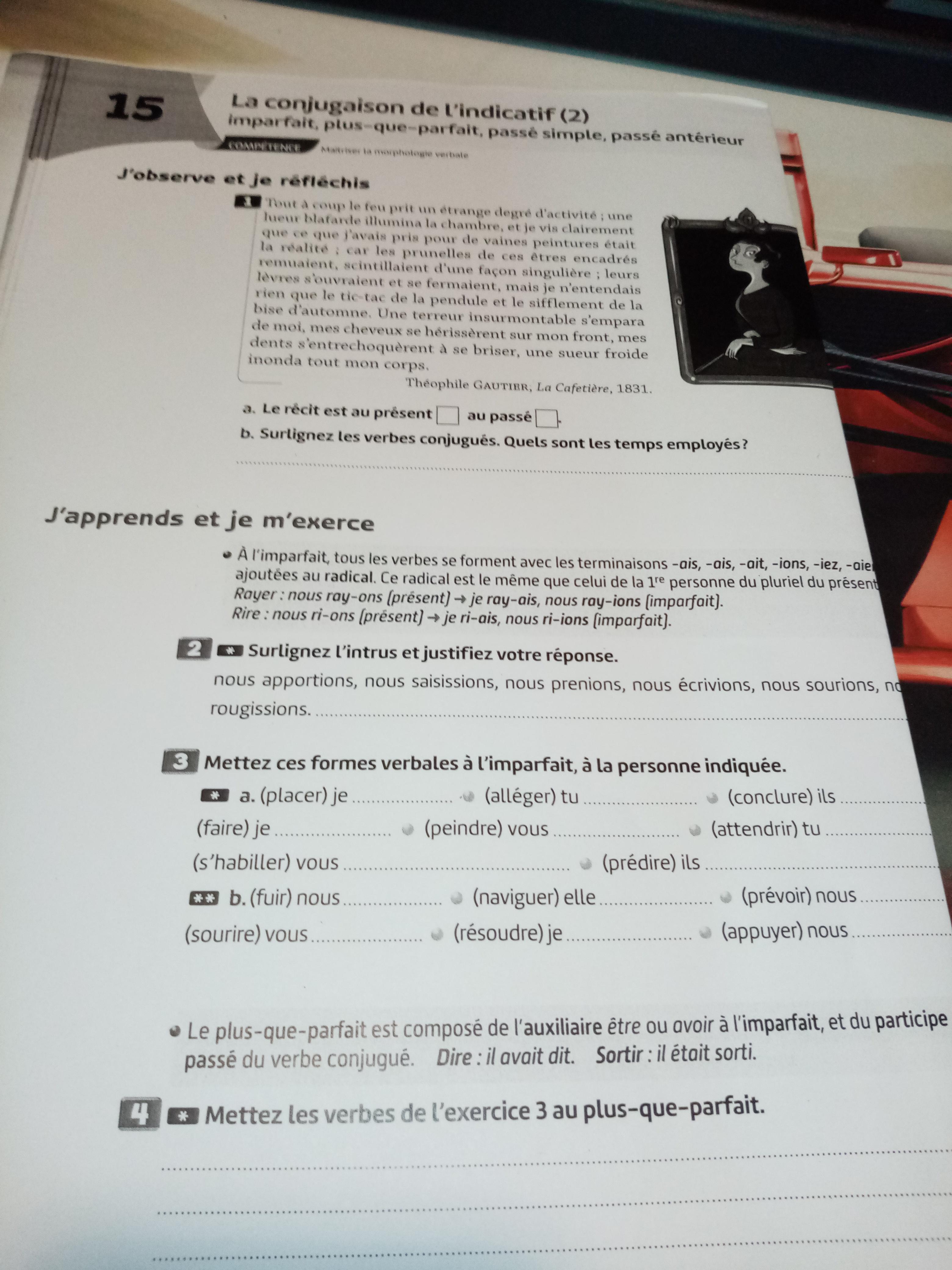Bonjour Pouvez Vous M Aider Pour Les Exercices De Francais C Est Les Exercices De 1a7 Merci Nosdevoirs Fr