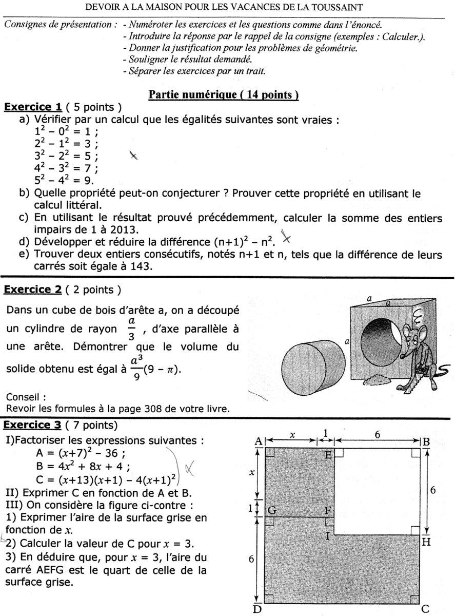 Probleme de maths je comprends pas 3ème Mathématiques