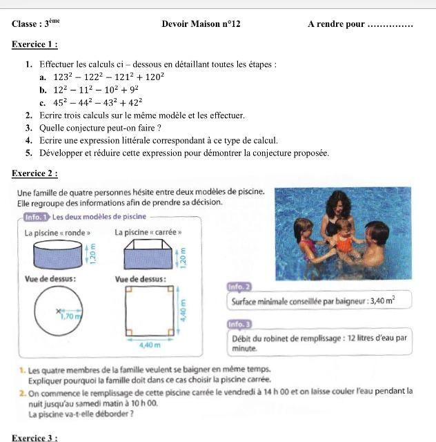 J 39 ai besoin d 39 aide pour mon dm de math svp urgent for Calcul volume piscine