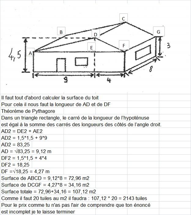 pour couvrir le toit de la maison il faut 20 tuiles au m2