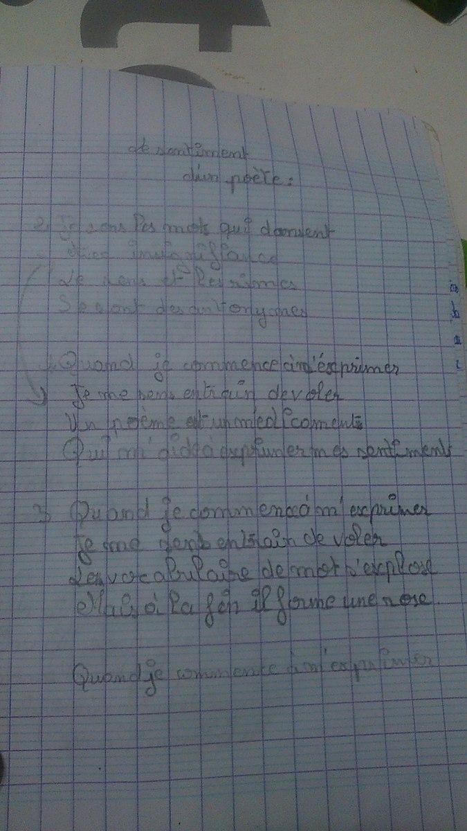 Urgent Poème écrire Un Poème Avec 2 Tercets Et 2 Quatrains