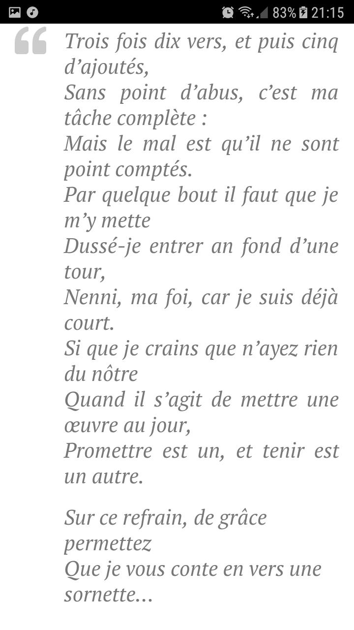 Bonjour J Aimerai Savoir Qui Connais Un Poeme Sur Le Theme
