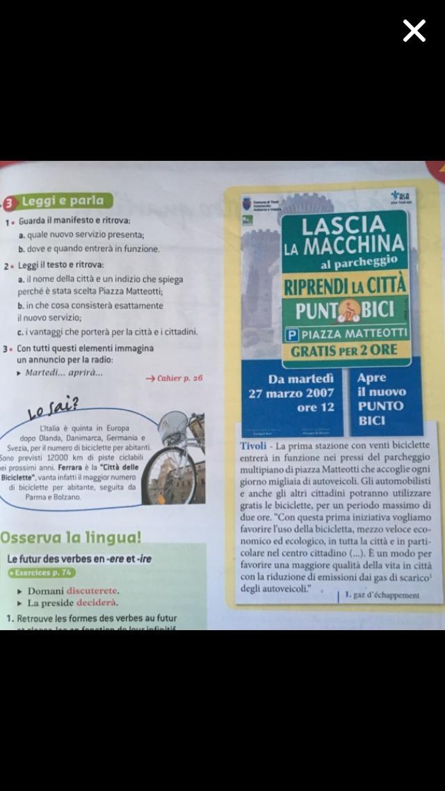 devoir italien