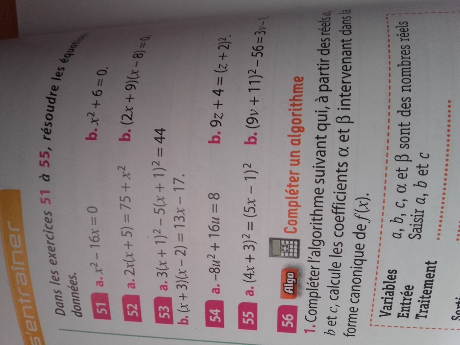 Bonjour,j'aurai besoin d'aide pour mon DM de maths(4eme) a ...