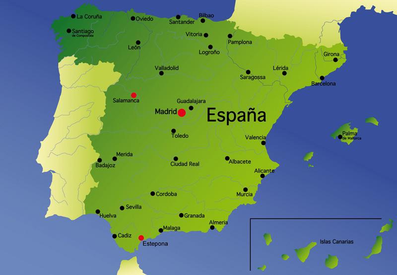 Madrid carte espagne   Voyager en Solo