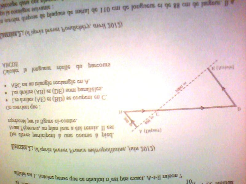 Bonjour j'ai un devoir maison à faire en mathématiques ...