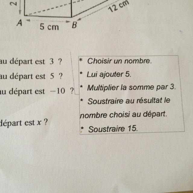 devoir maison maths 4eme