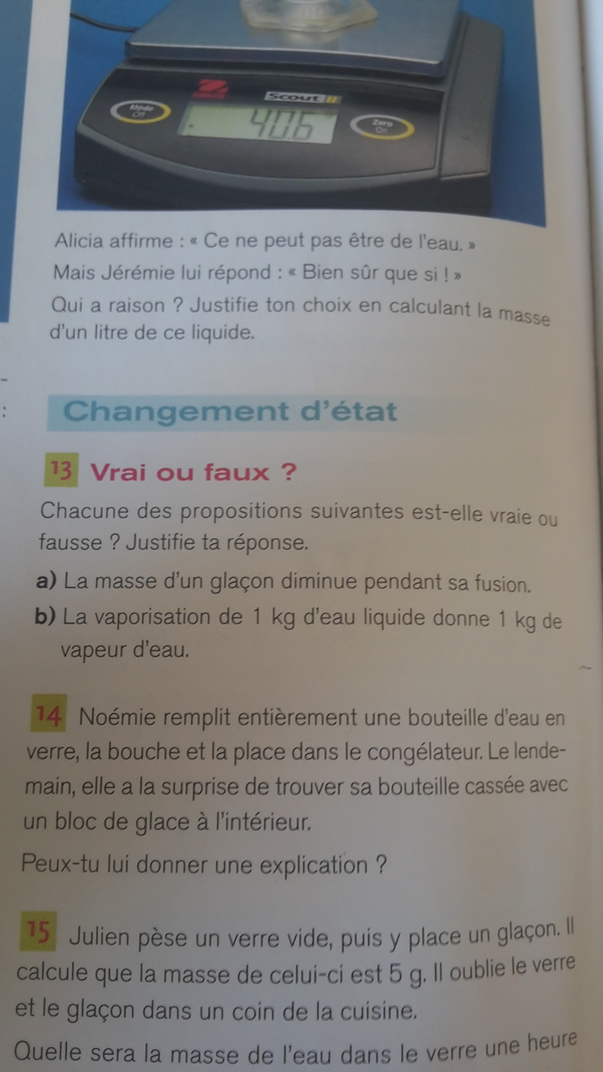 exercice 13 page 140 physique chimie - Nosdevoirs.fr