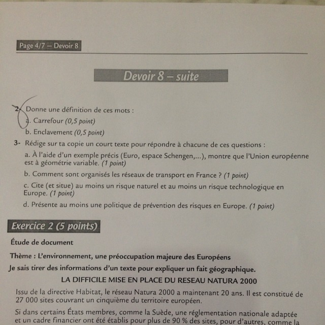 Devoir Commun Maths 4eme
