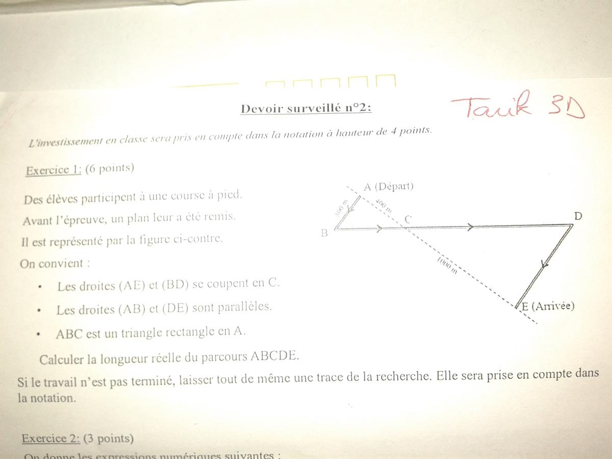 Aide exercice mathématiques 3eme sur le forum Cours et ...