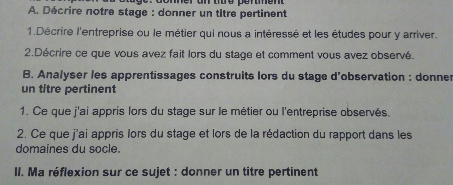 Bonjour Lundi Je Dois Passer Mon Oral De Stage Mais Je N