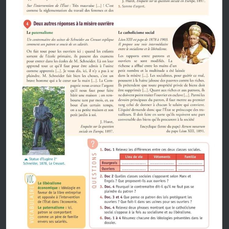 Question 2a5 P 105 Livre Histoire Geo 4eme Help Nosdevoirs Fr