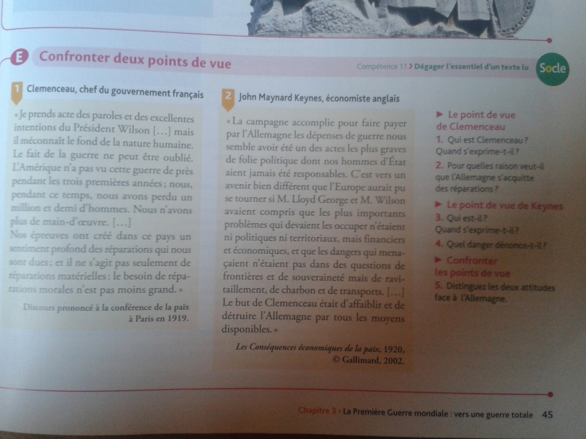 Examen local de français 3ème année collège - (manuel ...