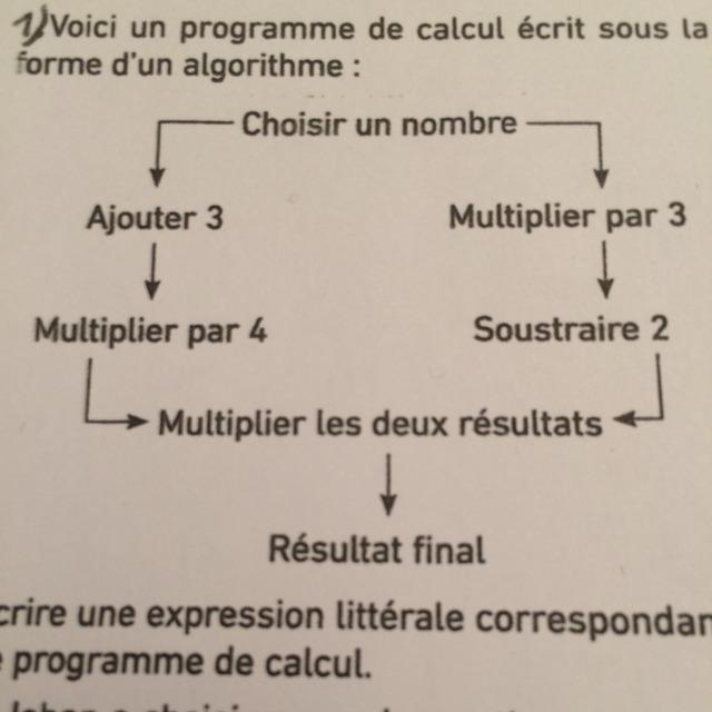 voici un programme de calcul