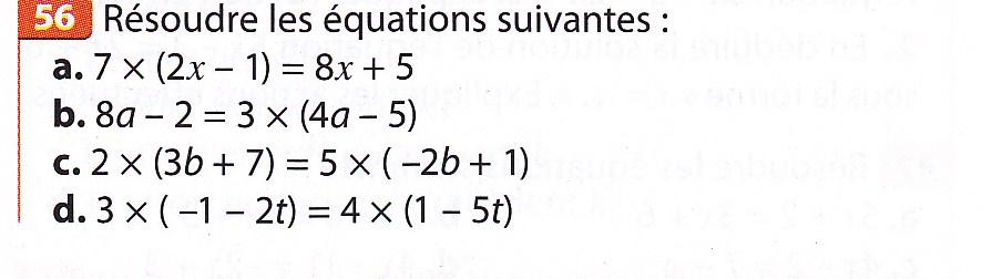 Bonjour niveau 3ème devoir de math sur les équations le 76 ...