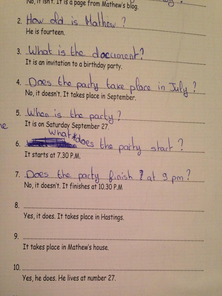 bonjour j 39 ai un devoir d 39 anglais aider moi svp urgent poser des question selon la r ponse. Black Bedroom Furniture Sets. Home Design Ideas