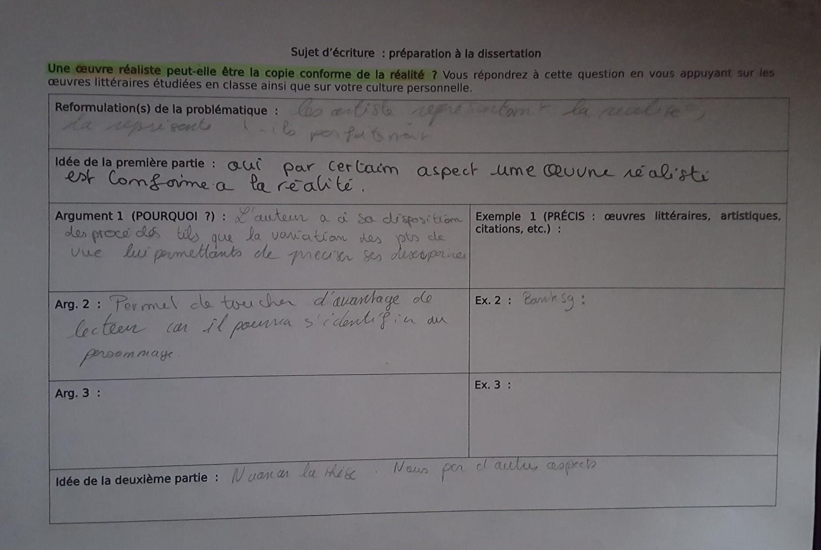 ROMANTISME - Commentaire et dissertation