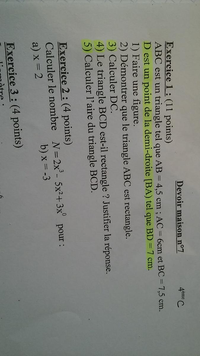 """DM maths 4ème """" nombres relatifs"""" [10 réponses] : Collège ..."""