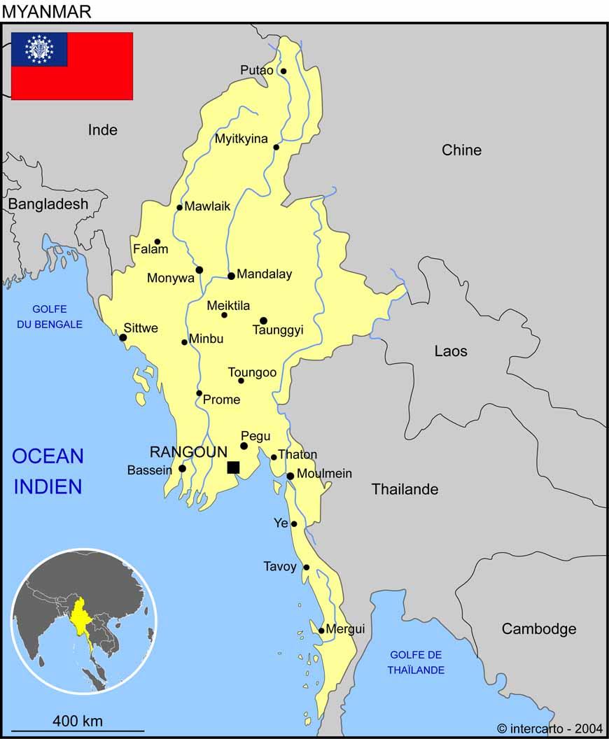 Carte Birmanie A Telecharger.Ou Se Situe La Birmanie Nosdevoirs Fr