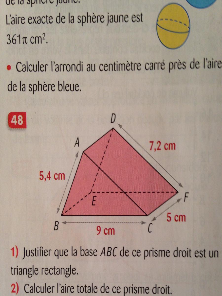 quelle est la formule pour calculer le volume d 39 un prisme droit base rectangulaire svp. Black Bedroom Furniture Sets. Home Design Ideas