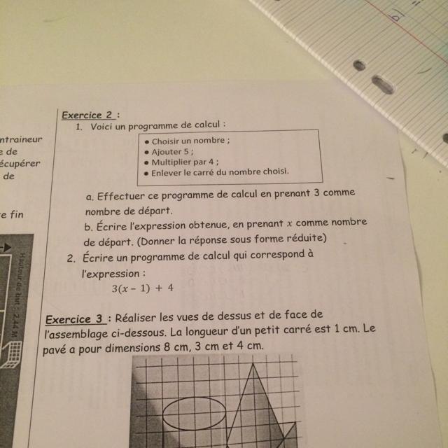 Merci D Avance 1 Voici Un Programme De Calcul Choisir Un Nombre Ajouter 5 Multiplier Nosdevoirs Fr