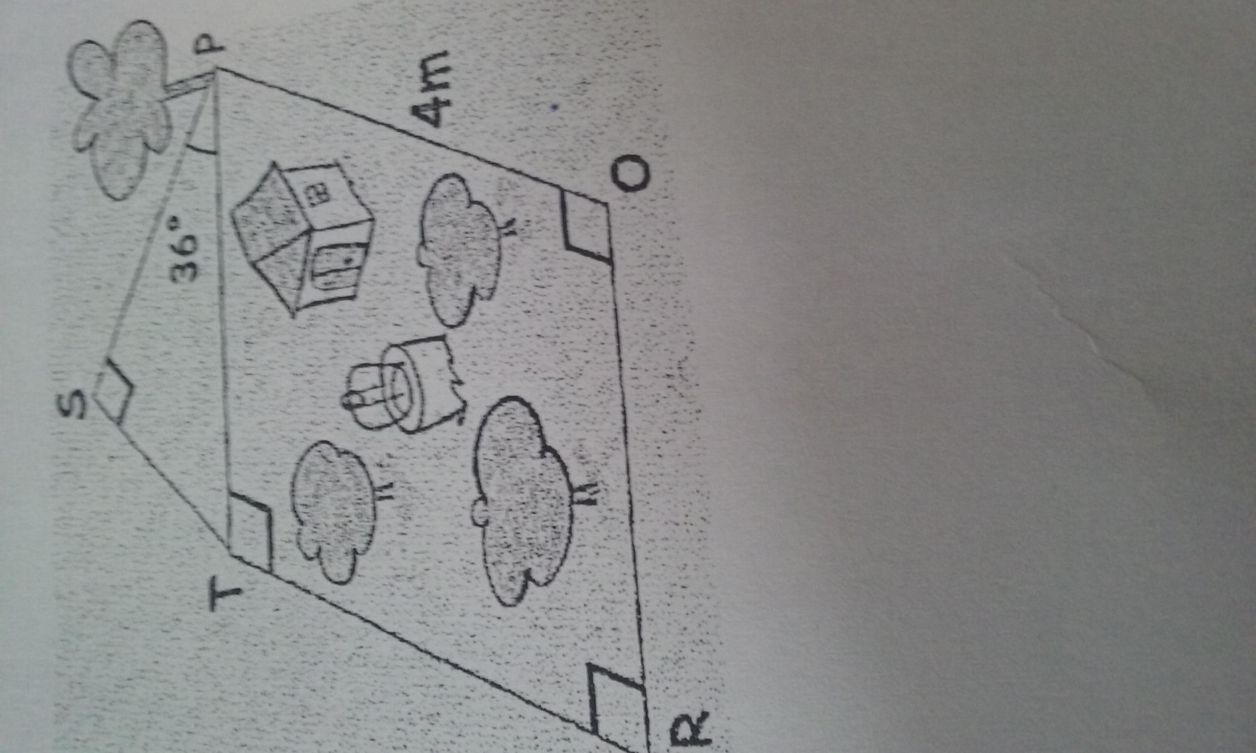 perfect une parcelle de terrain est forme duun rectangle tpor de m carr duaire et duun triangle. Black Bedroom Furniture Sets. Home Design Ideas