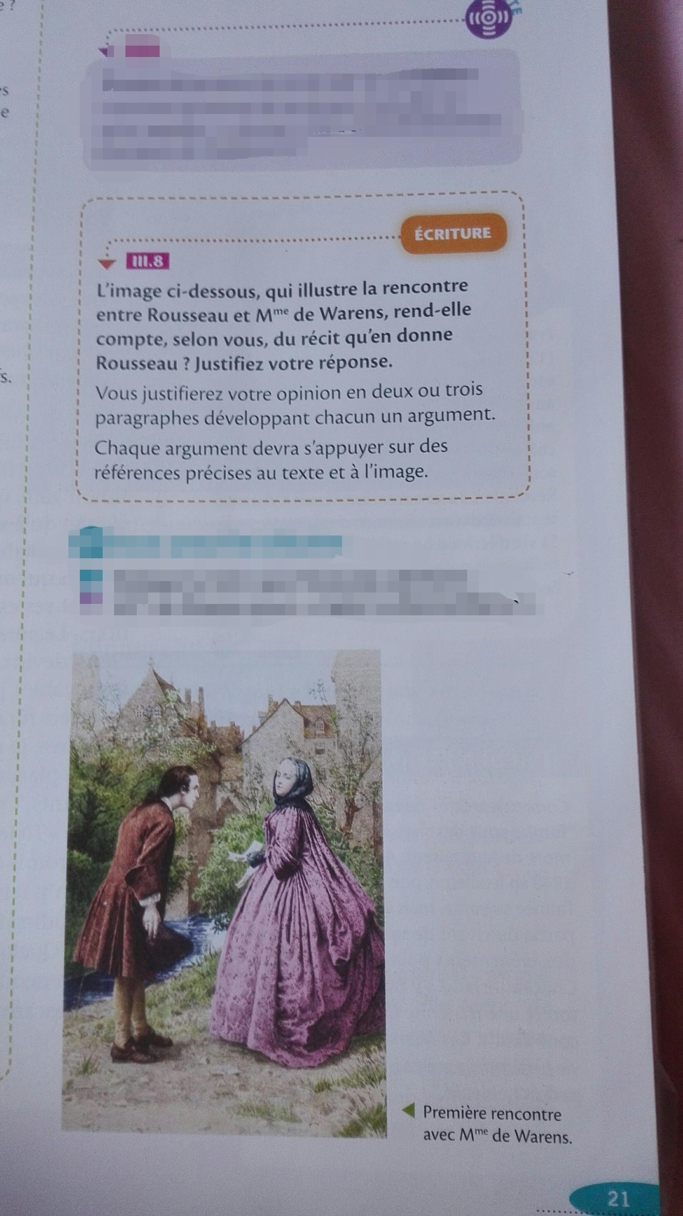 La rencontre avec Mme de Warens, Les Confessions, Rousseau