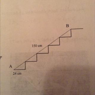 on veut poser une moquette sur les marches d 39 un escalier entre le point a et le point b si l 39 on. Black Bedroom Furniture Sets. Home Design Ideas