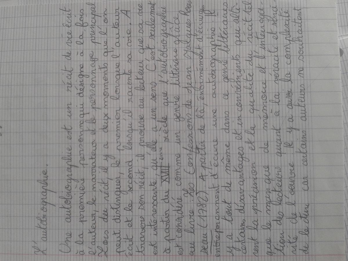 Dissertation autobiographie - Mots | Etudier