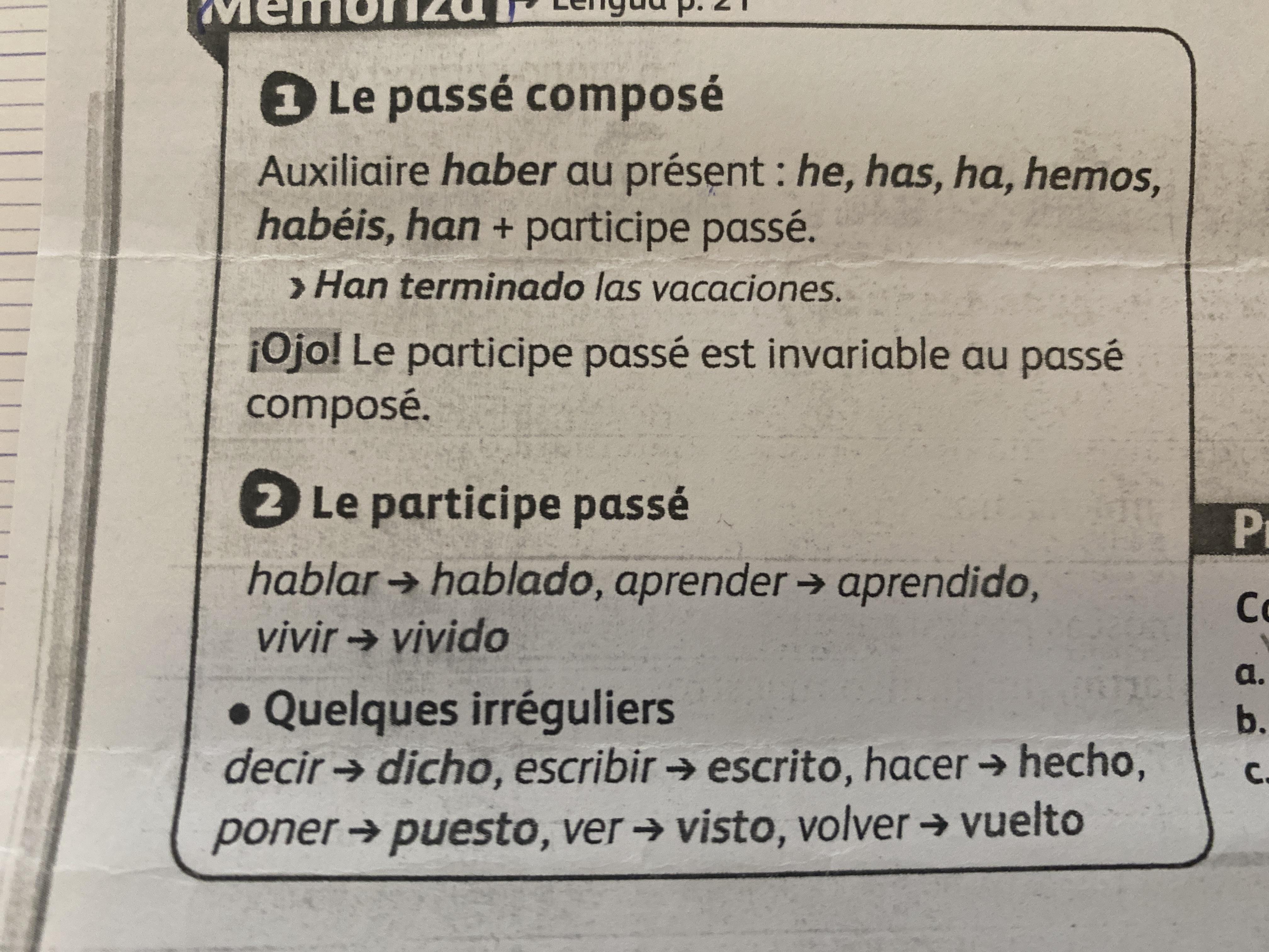 Bonjour Svp Aider Moi Cette Aprem J Ai Un Oral En Espagnol Et Je Voudrais Que Vous M Interoger Nosdevoirs Fr
