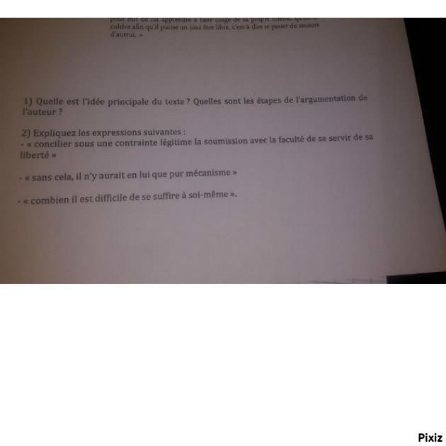 aide a la dissertation en francais