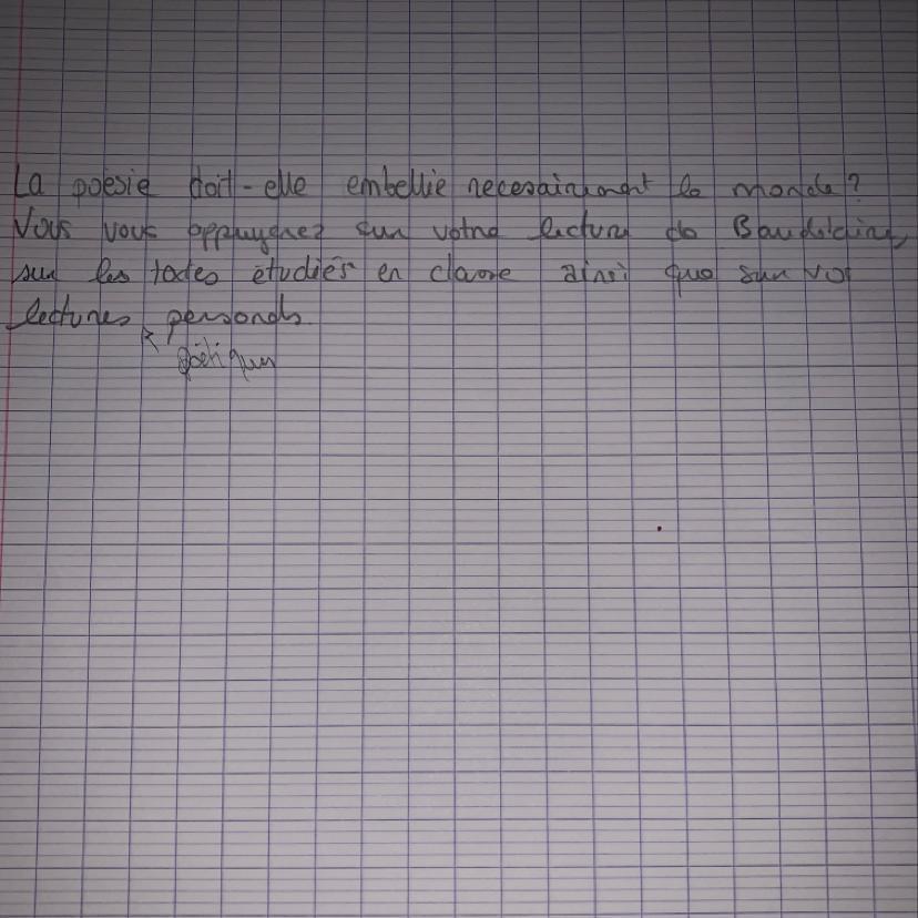 Dissertation poesie