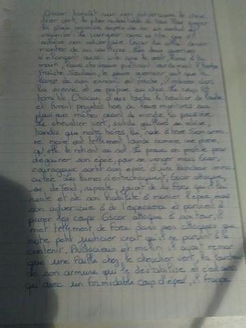 Bonjour je suis en 5eme je viens de faire ma rédaction sur ...